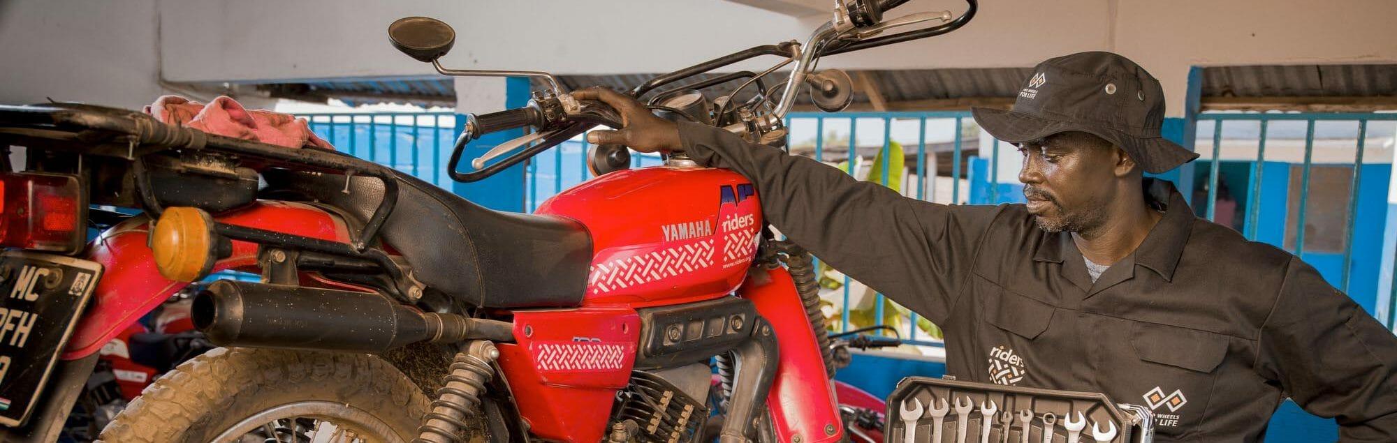 Salifu Jabang, Head Motorcycle Head Technician, Riders for Health, The Gambia