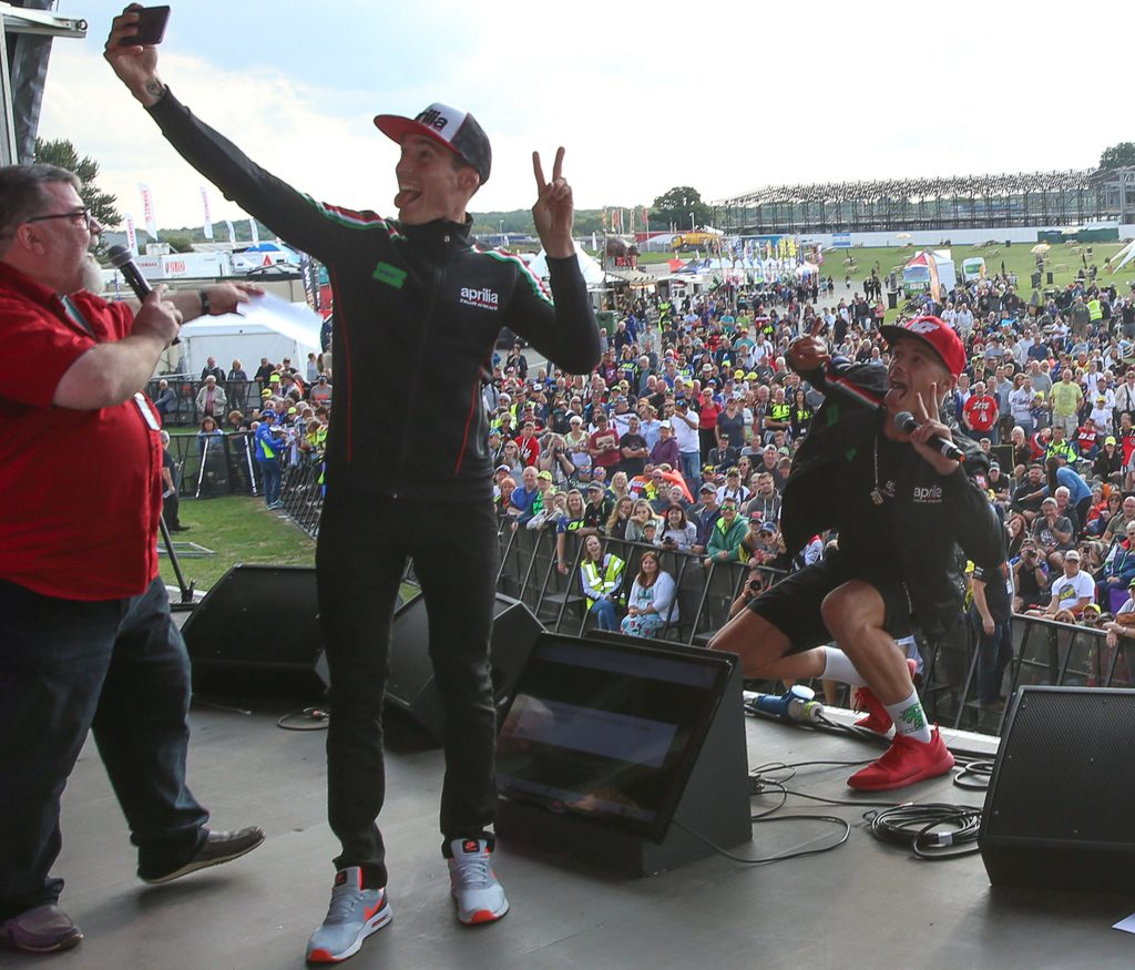 Aleix Espargaró Scott Redding Auction Silverstone Day of Champions Two Wheels for Life MotoGP