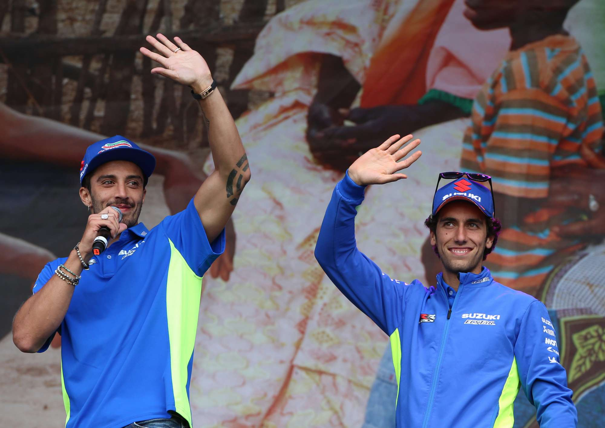 Andrea Iannone Alex Rins Silverstone Day of Champions Two Wheels for Life MotoGP