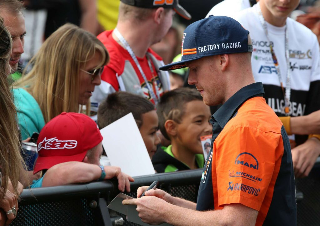 Bradley Smith Auction Autograph Silverstone Day of Champions Two Wheels for Life MotoGP