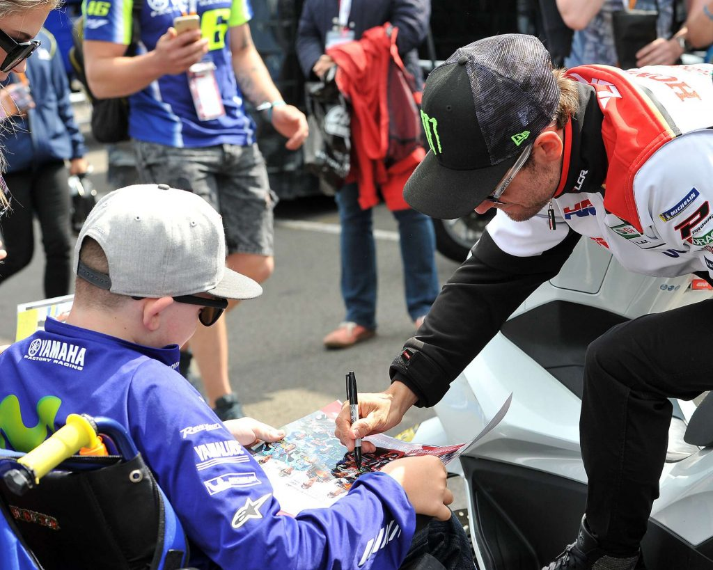 Cal Crutchlow Autograph MotoGP Two Wheels for Life Silverstone Day of Champions 2018