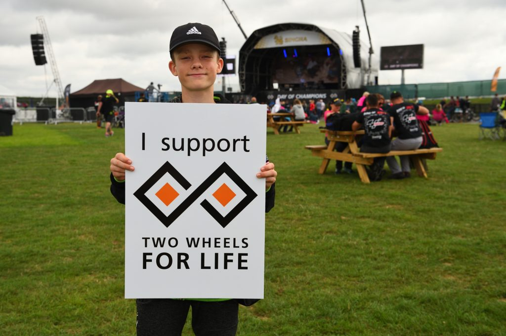Two Wheels for Life MotoGP Silverstone Support Sign