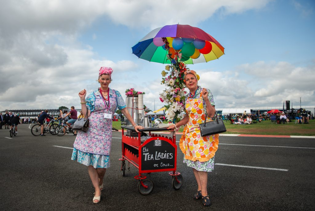 The Tea Ladies Entertainment Zone Day of Champions Silverstone MotoGP Two Wheels for Life