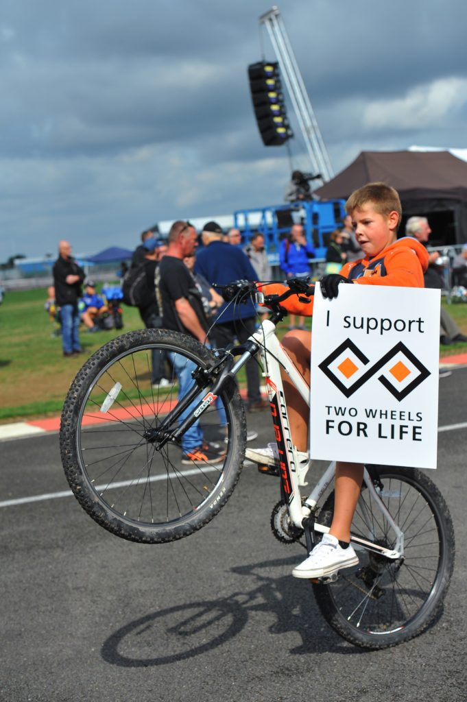 Fan Support Sign Day of Champions Silverstone MotoGP Two Wheels for Life