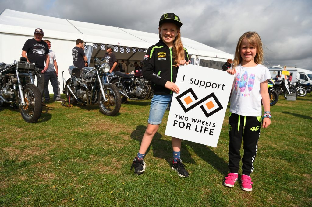 Audience Support Two Wheels for Life MotoGP Silverstone Fan Sign