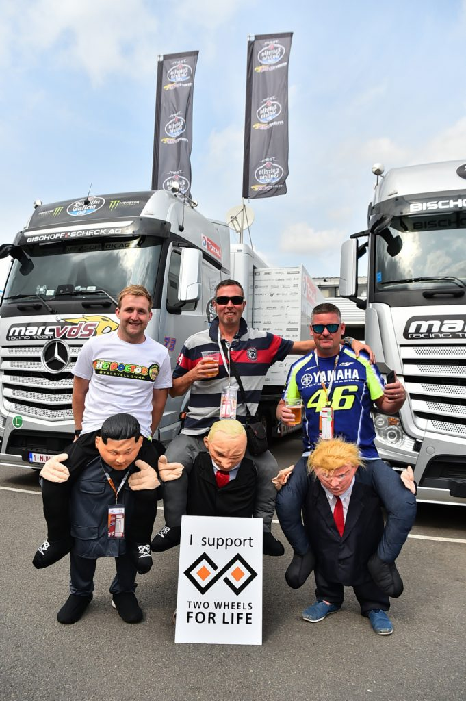 Kim Jong-un Vladimir Putin Donald Trump Pit Paddock Two Wheels for Life MotoGP Silverstone Day of Champions 2018