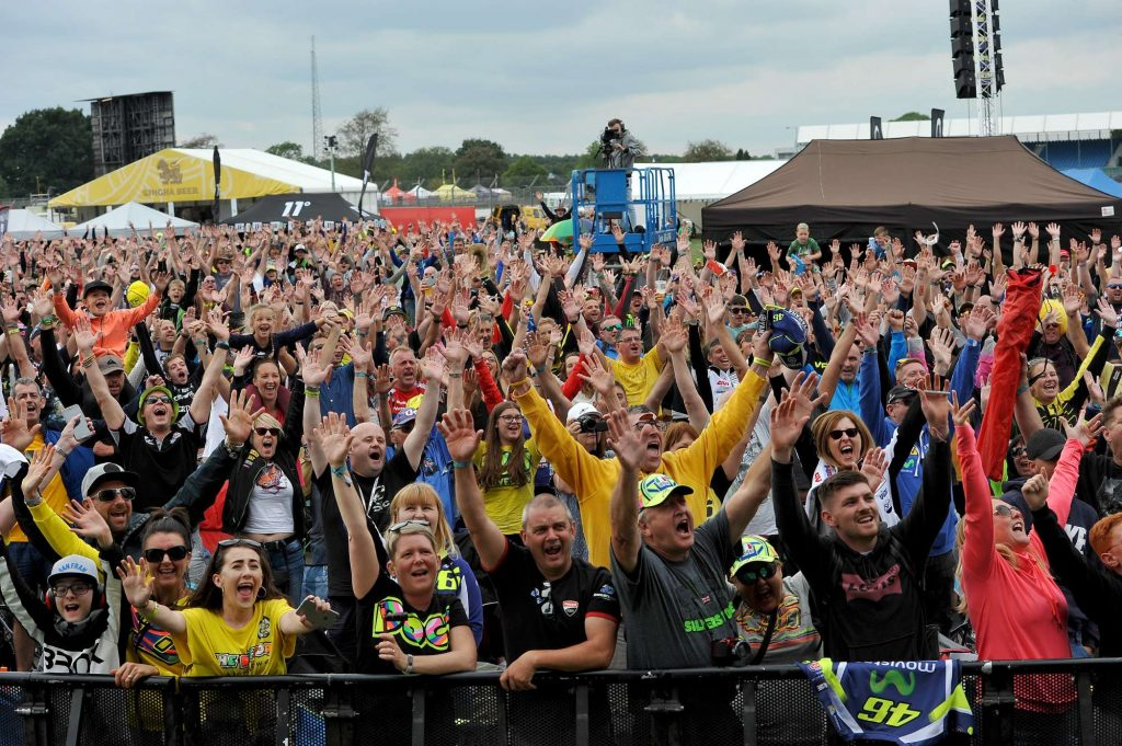 Crowd Silverstone MotoGP Day of Champions Two Wheels for Life
