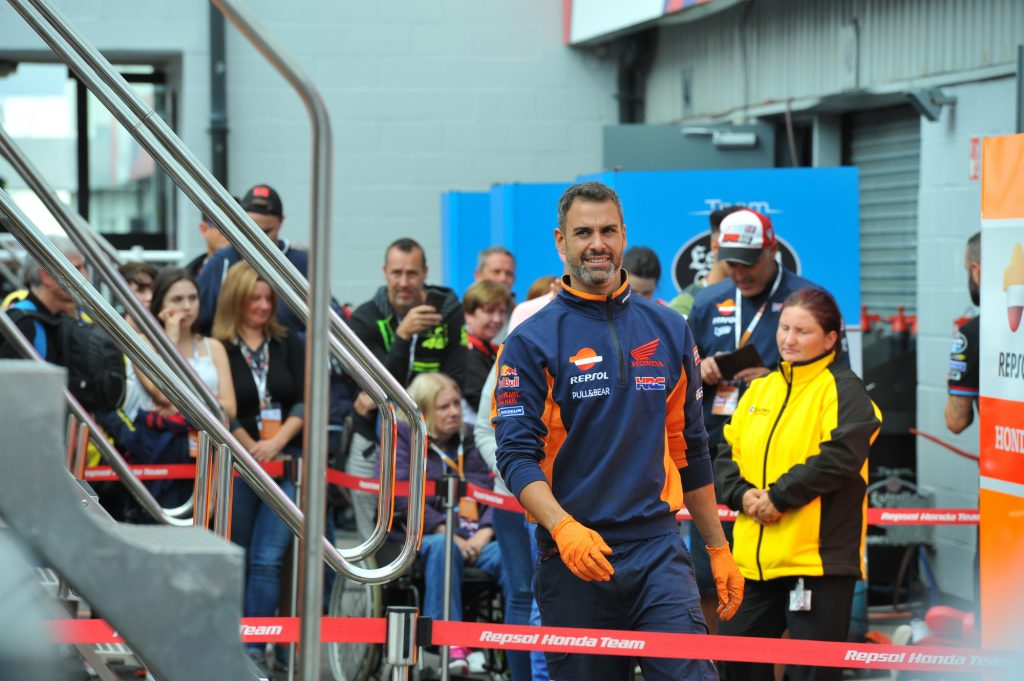 Javier Ortiz Pit Paddock Two Wheels for Life MotoGP Silverstone Day of Champions 2018