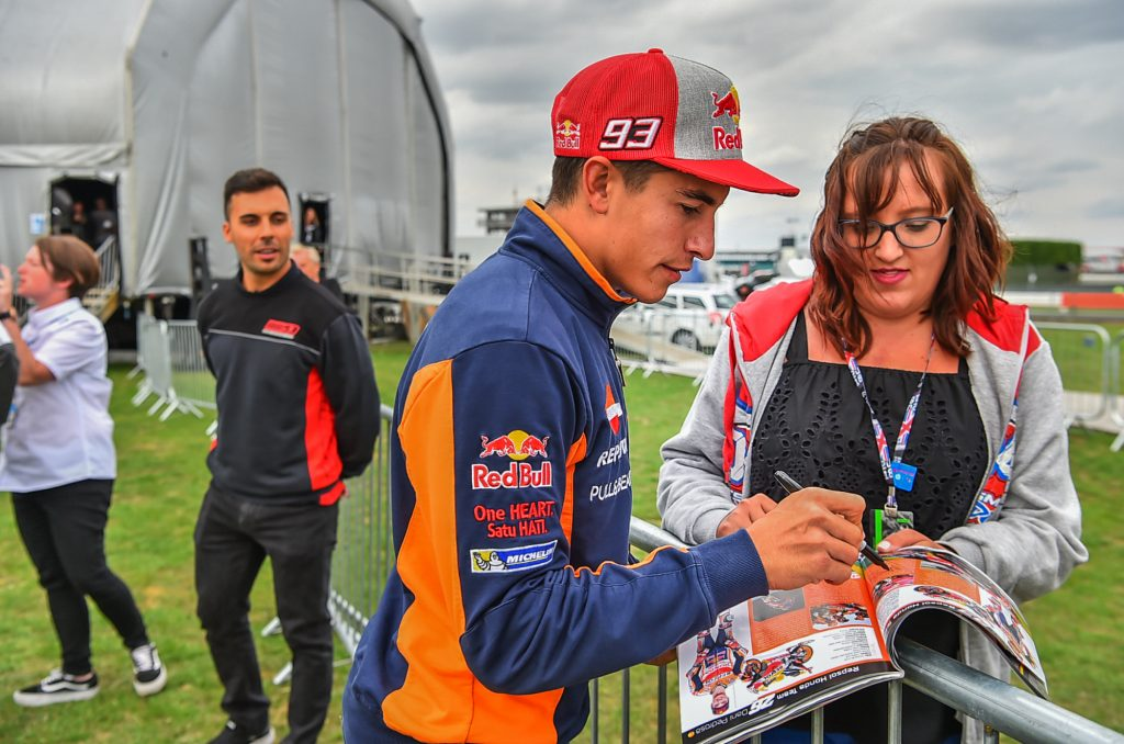 Marc Marquez Autograph Two Wheels for Life MotoGP Silverstone Day of Champions 2018