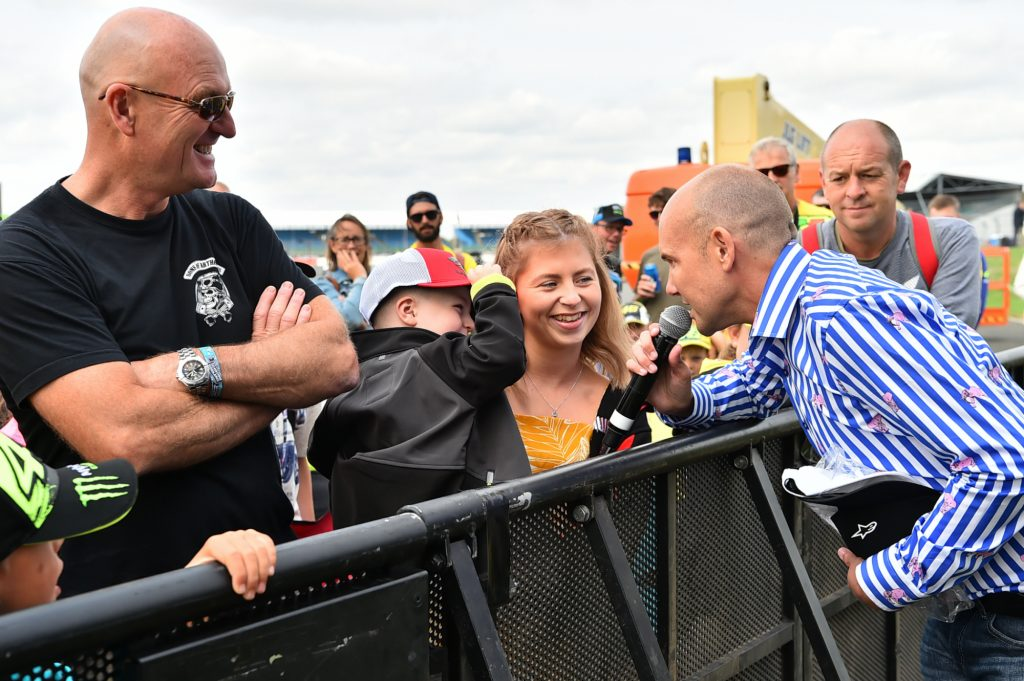 Michael Hill Audience Day of Champions Silverstone MotoGP Two Wheels for Life