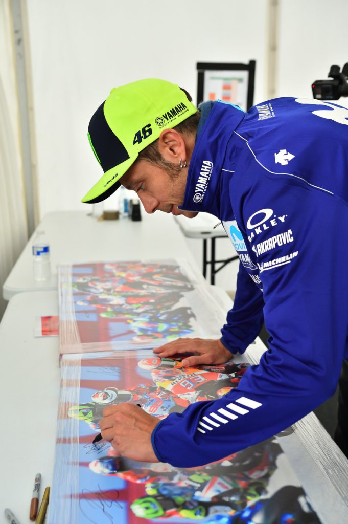 Valentino Rossi Autograph Silverstone Day of Champions Two Wheels for Life MotoGP