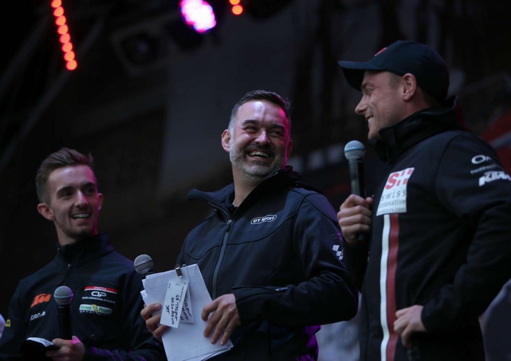 Sam Lowes Gavin Emmett John McPhee Silverstone Day of Champions Two Wheels for Life MotoGP