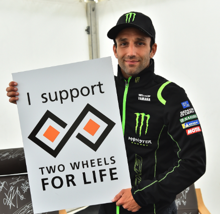 Johann Zarco Rider Support Two Wheels for Life MotoGP Silverstone Day of Champions 2018