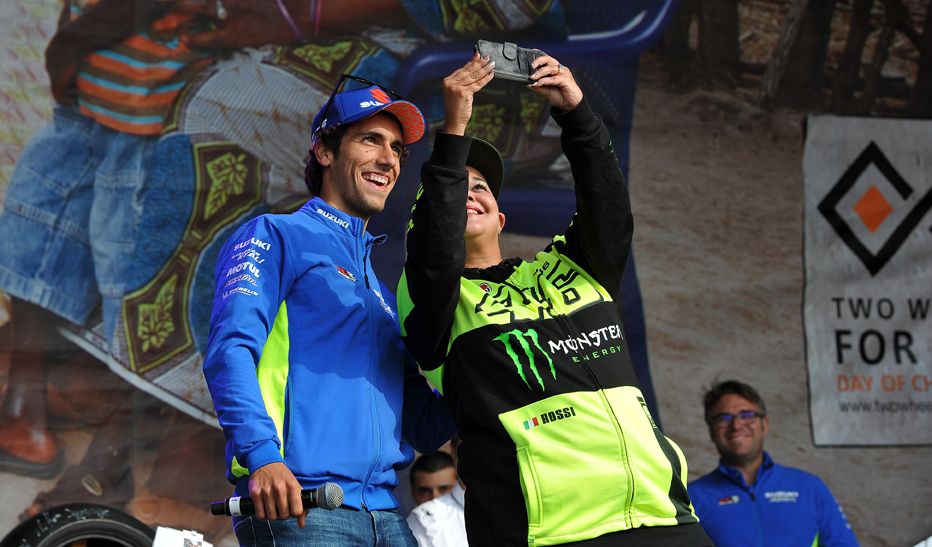 Selfie with Suzuki star Alex Rins