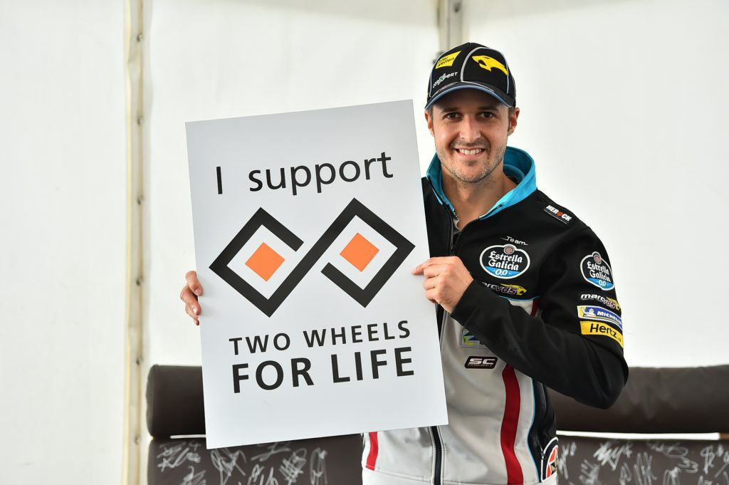 Thomas Lüthi Rider Support Two Wheels for Life MotoGP Silverstone Day of Champions 2018