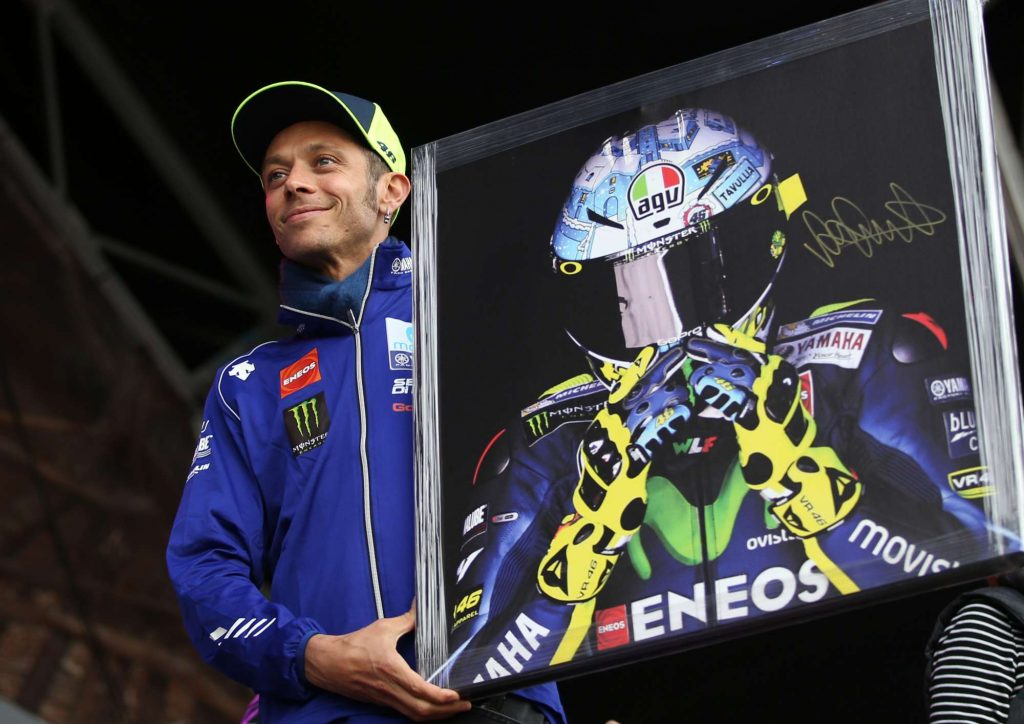Valentino Rossi Auction Signed Painting Silverstone Day of Champions Two Wheels for Life MotoGP