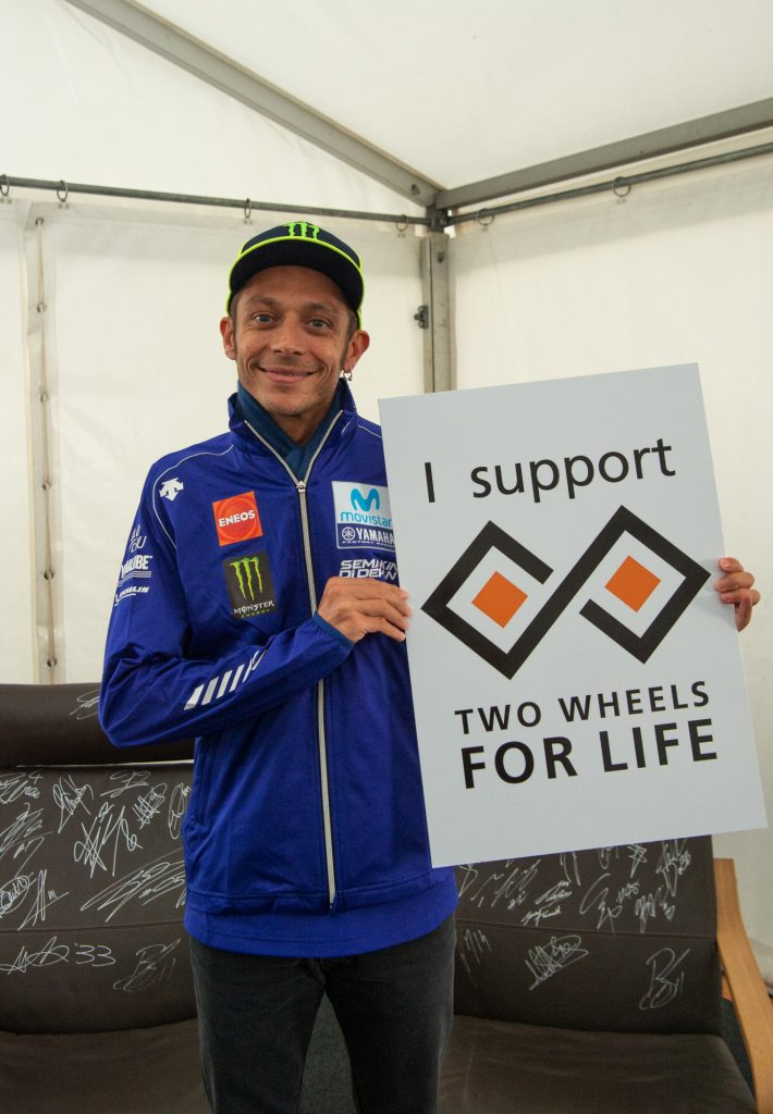 Valentino Rossi Rider Support Two Wheels for Life MotoGP Silverstone Day of Champions 2018