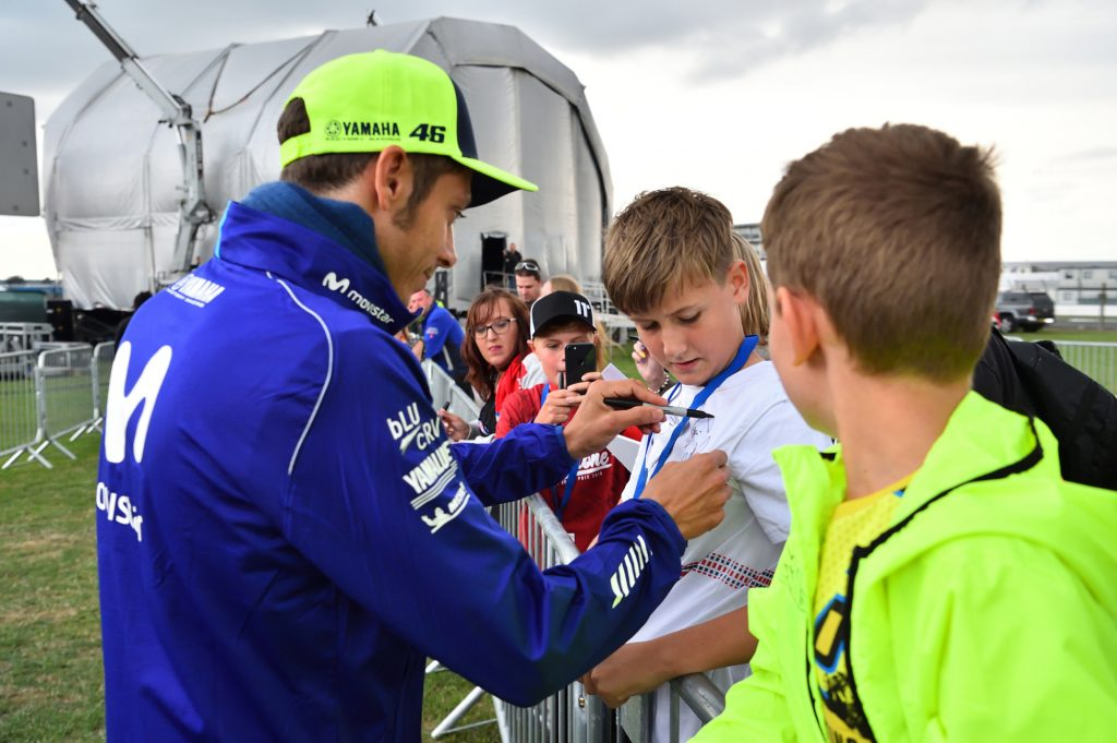 Valentino Rossi Fans Two Wheels for Life MotoGP Silverstone Day of Champions 2018