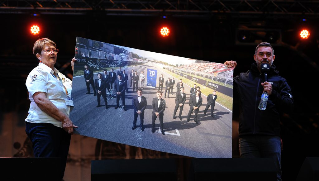 Andrea and Gavin auction MotoGP 70th Anniversary 2019 signed photo