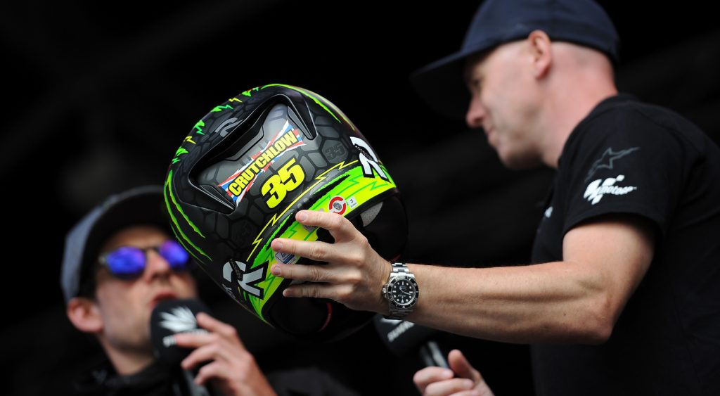 Crutchlow auctioned his helmet
