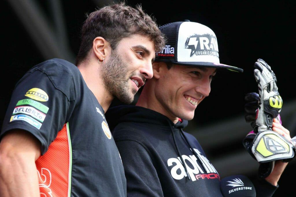 Andrea Iannone & Aleix Espargaro