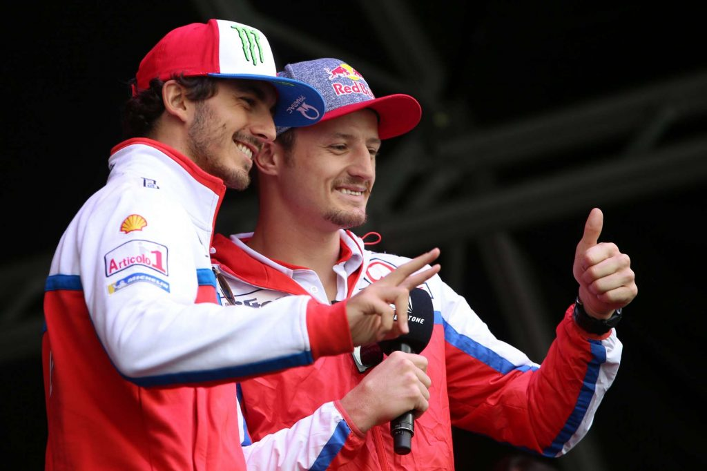 Jack Miller & Francesco Bagnaia giving DOC30 the thumbs up!