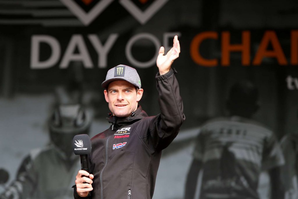 Cal Crutchlow waves to the crowd at Day of Champions