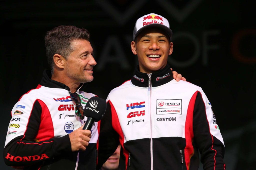 Lucio Cecchinello and Takaaki Nakagam at the auction