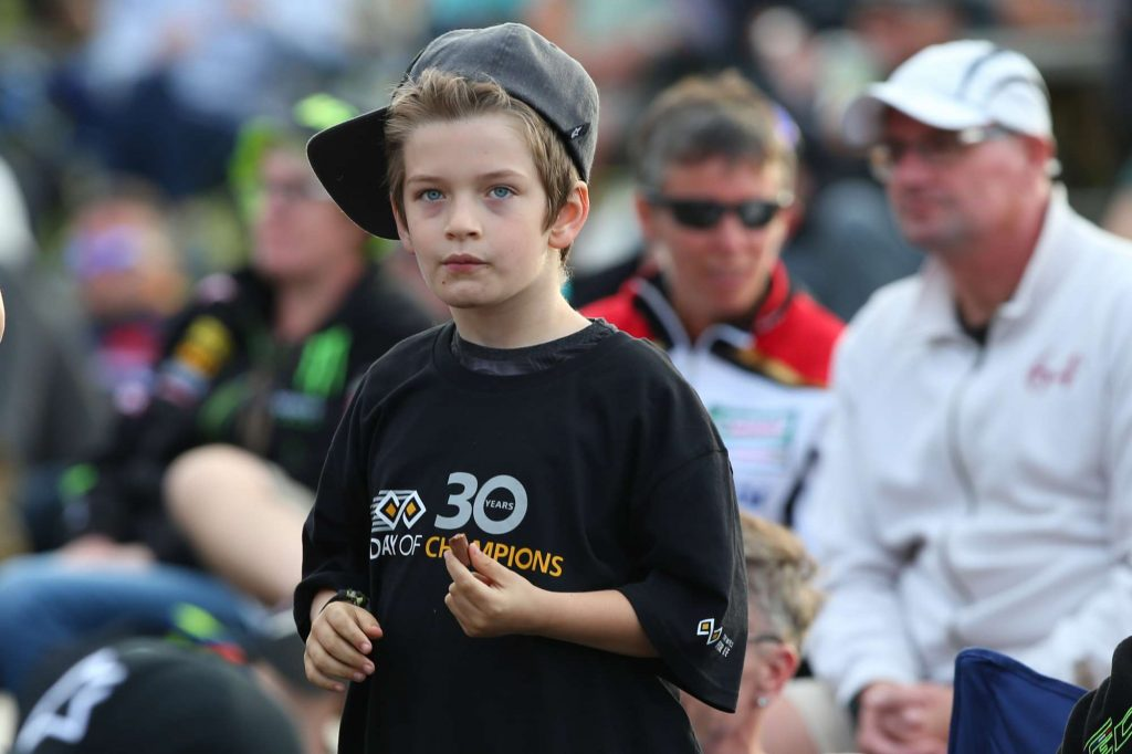 Young boy in his DOC30 tee!