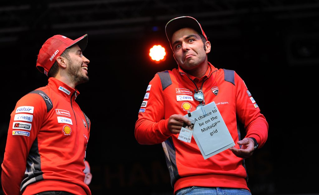 Dovizioso and Petrucci had fun on stage