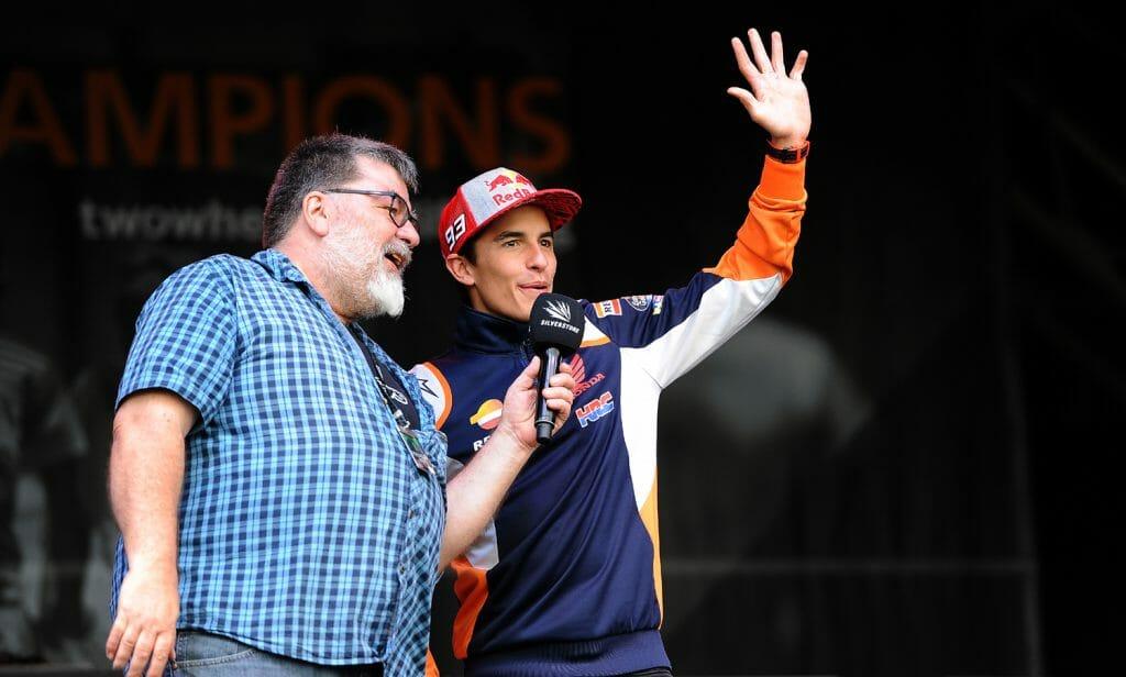 Marquez greets the fans