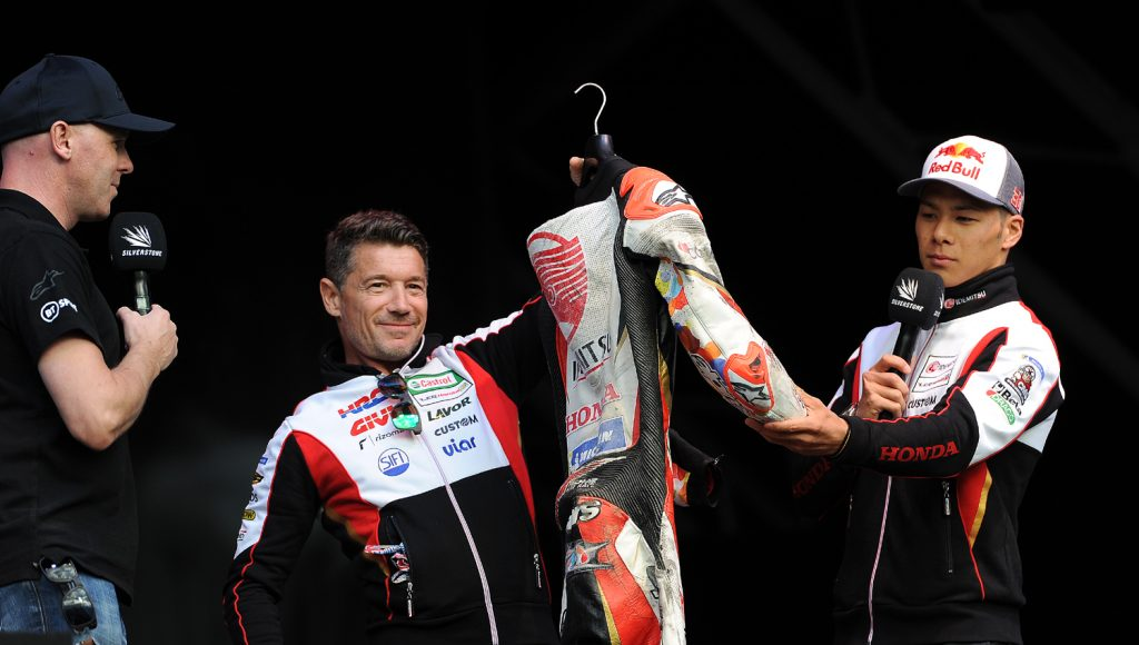 Nakagami auctions his leathers