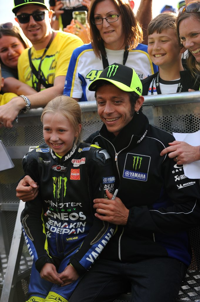 Rossi makes a young girl's day