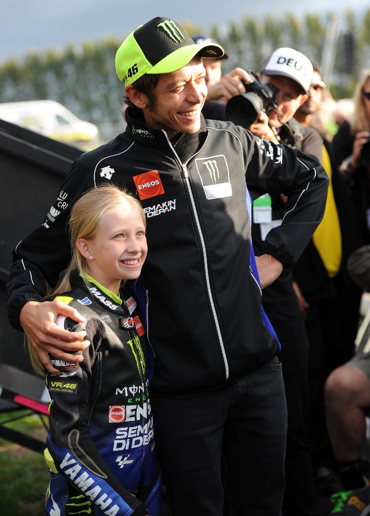 Mini-Rossi meets the real Rossi!