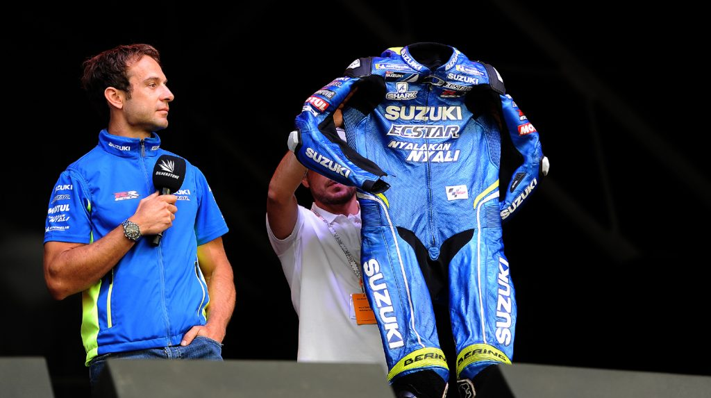 Sylvain auctions his leathers