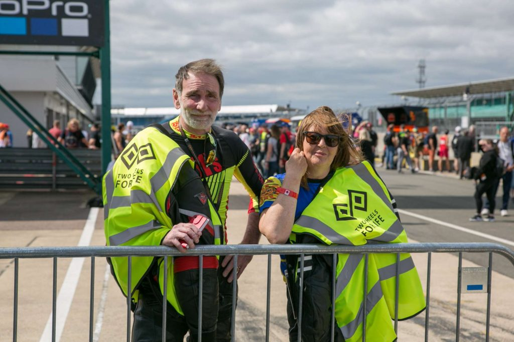 The wonderful Two Wheels Volunteers