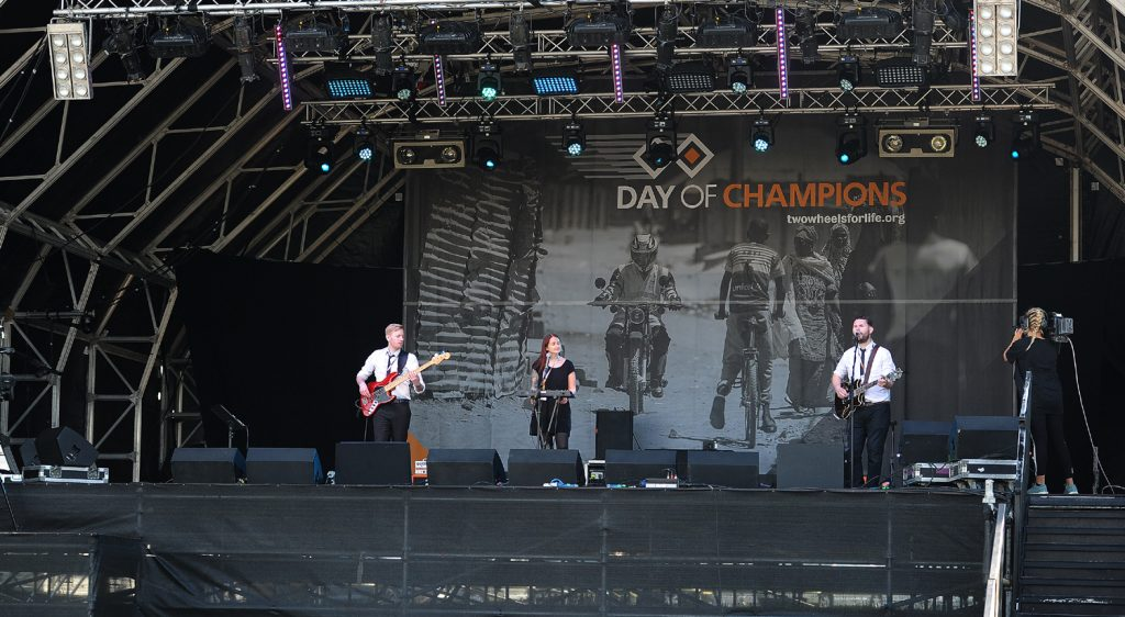 Our band for the day - The Remnants