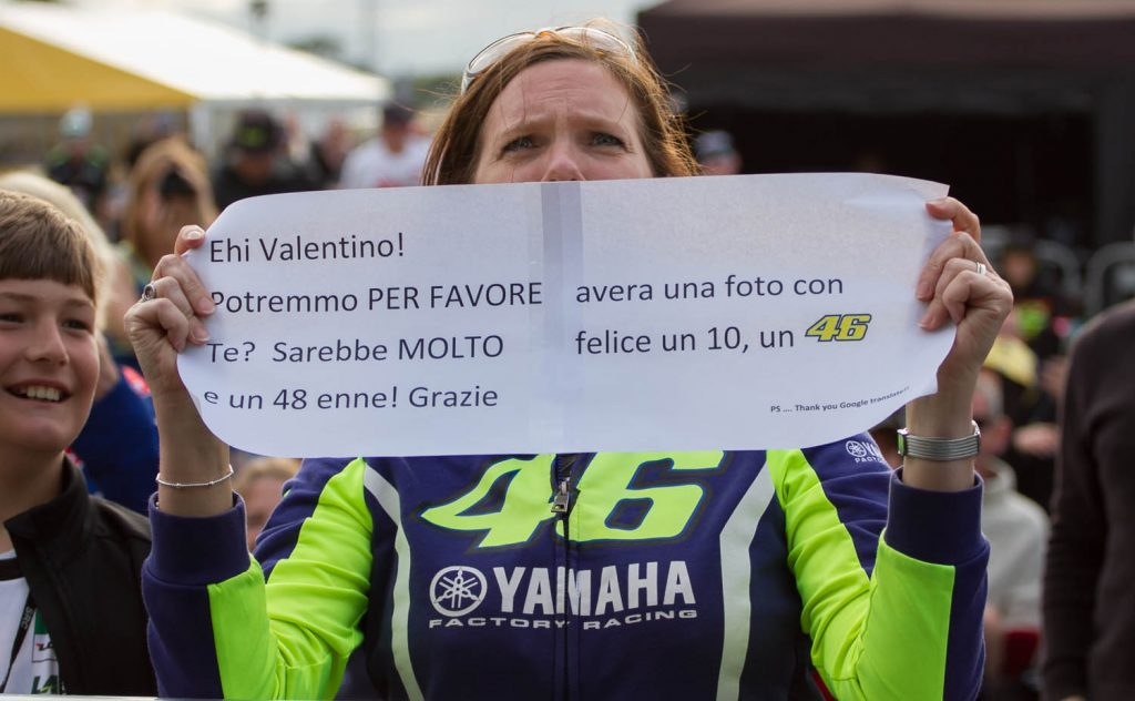 A message to Rossi