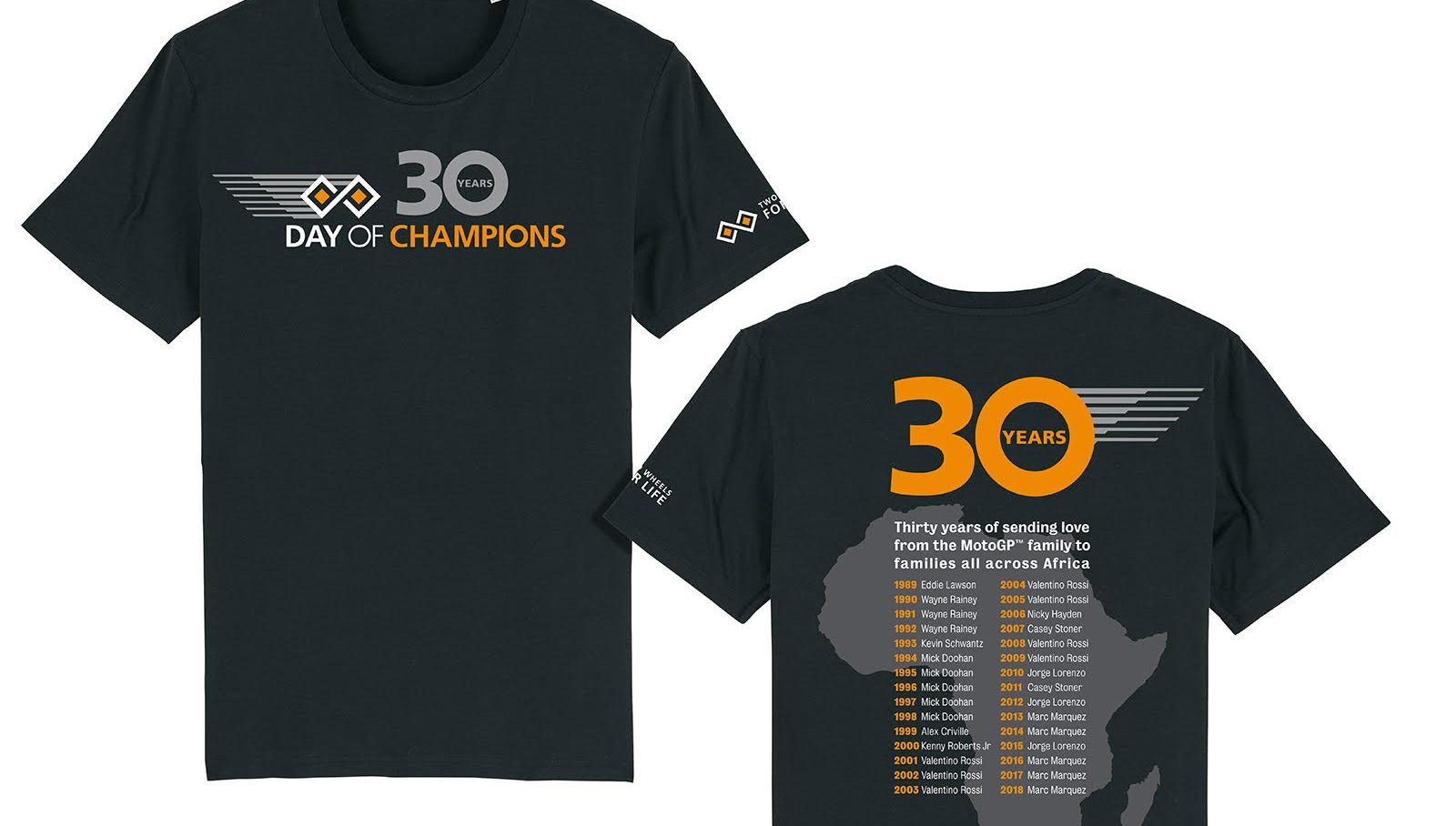 Limited edition tees celebrate 30 years of Day of Champions
