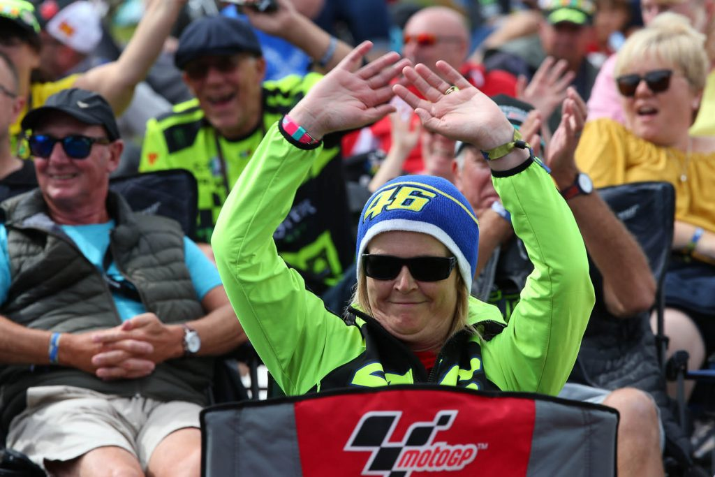 Rossi branded fans were everywhere!