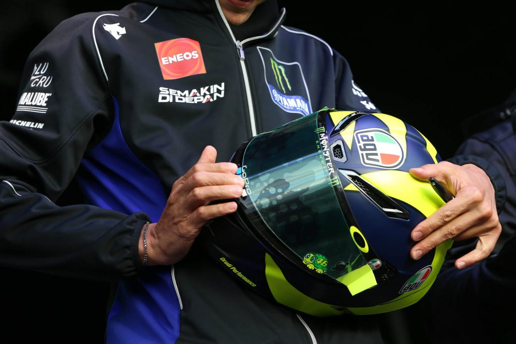 The famous Rossi replica helmet