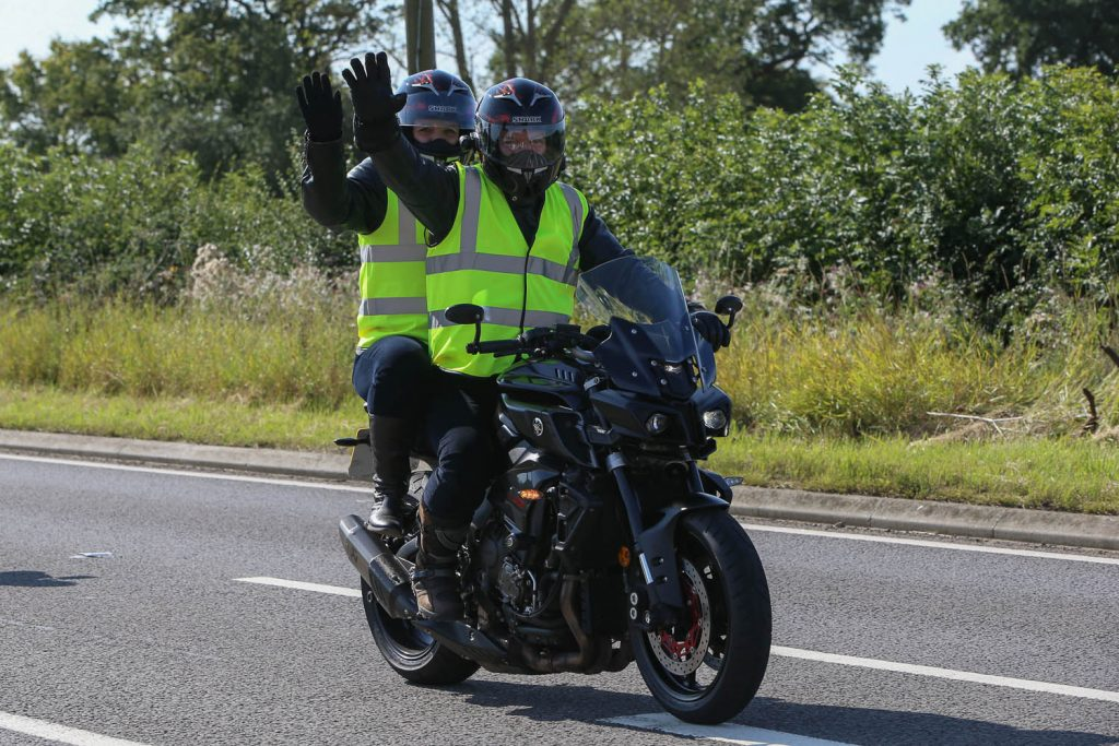 Pillion fun on the Day of Champions Ride-in