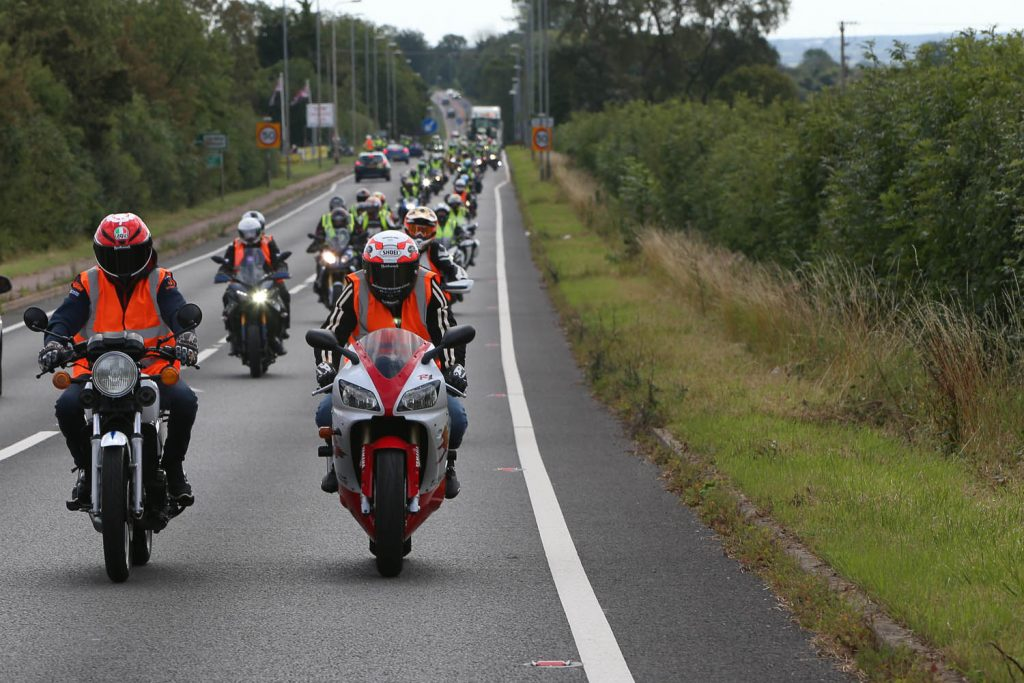 150 riders took to the road on this year's ride-in