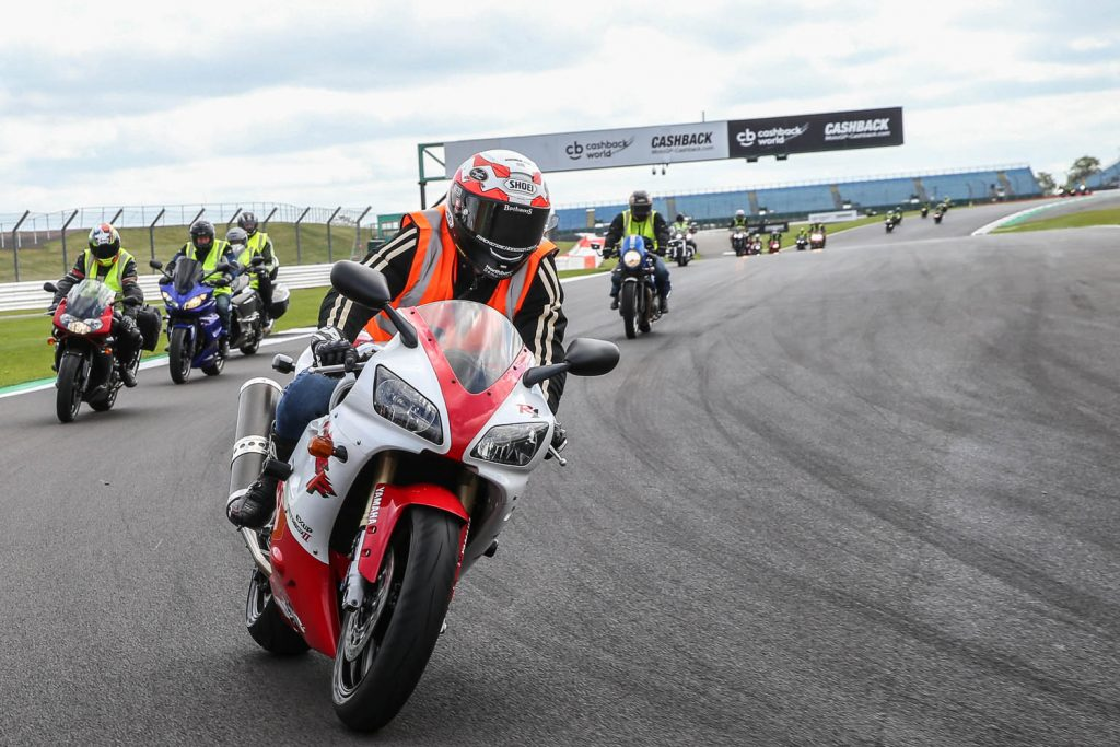 Taking to the new asphalt at Silverstone