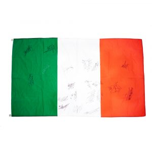Italian flag signed by stars of MotoGP