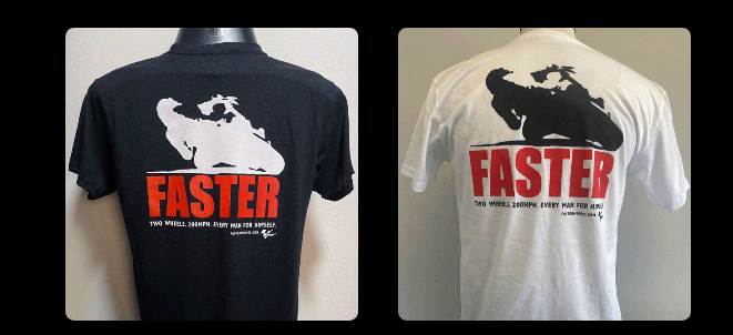 <b>Buy a MotoGP™ FASTER tee to support Two Wheels</b>