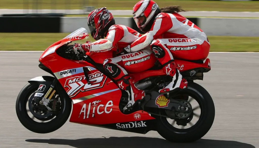 Ross Nobel Ducati x2 two seat ride