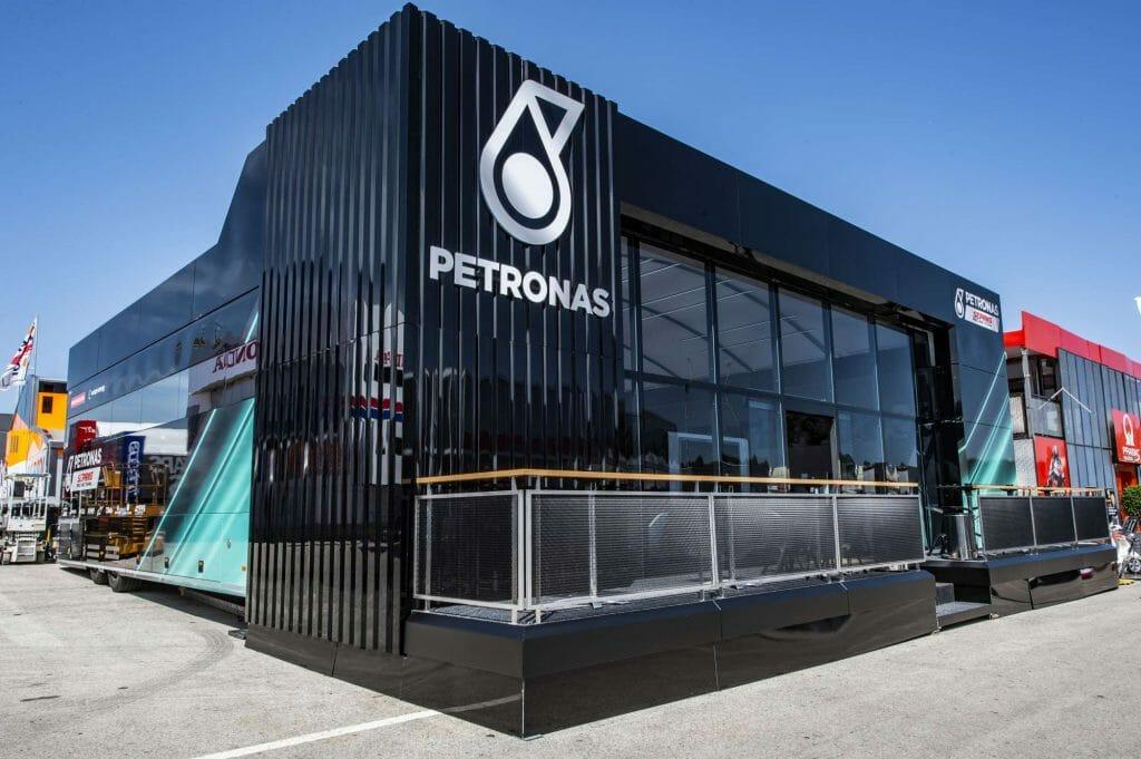 Petronas paddock
